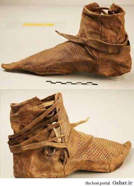 4s89t1dz42wjpo8e1gd8 کفش قدیمی قرن چهاردهم / عکس