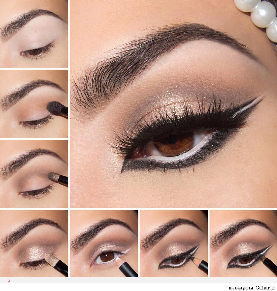 آموزش مدل آرایش چشم سه رنگ · جدید 97 -گهر