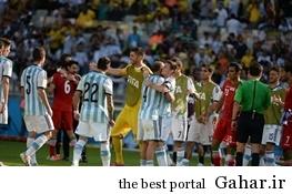 14 6 22 11413 چهره نگران همسر مسی در بازی آرژانتین و سوئیس / عکس