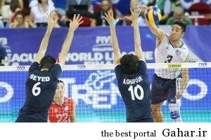 204936 تیم ملی والیبال ایران مغلوب امریکا شد