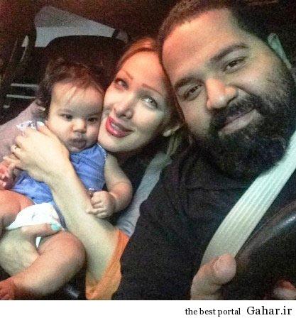 2448604 350 عکس رضا صادقی و همسر آلمانی اش و دخترشان