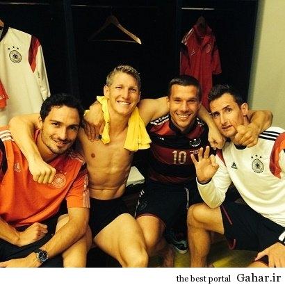 330330jamne خوشحالی آلمان ها پس از برد برزیل در رختکن