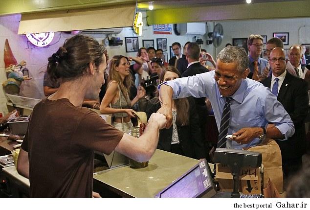 63540791638163535901593 سوتی اوباما در سالن غذاخوری