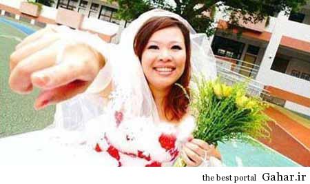 92 09 t1124 این دختر با خودش ازدواج کرد!  / عکس