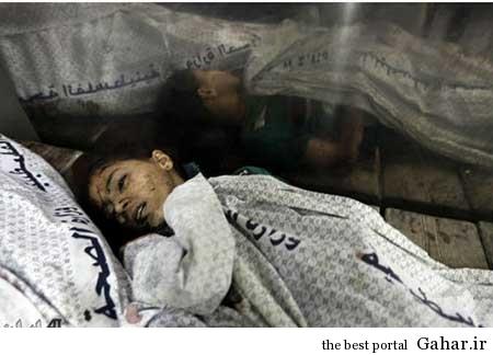9304 6m392 کودکان غزه غرق در خون / عکس (18+)