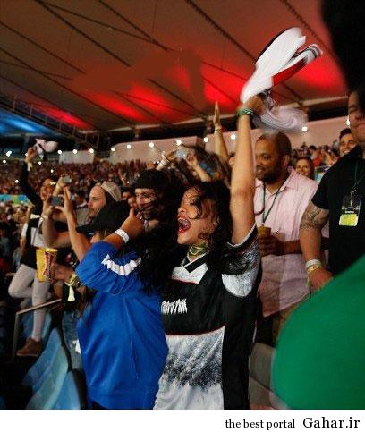 9304 6t132 ریحانا تماشاگر ویژه جام جهانی 2014 / عکس