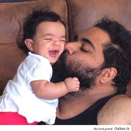 9cvtmnw2mcp5hu8yaa عکس جدید از رضا صادقی و دخترش تیارا