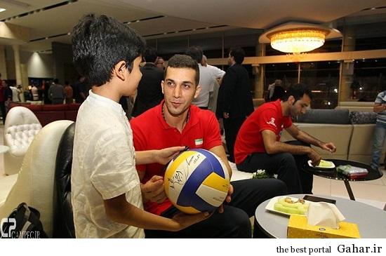 Volleyball 75 عکس های بازگشت تیم ملی والیبال از لیگ جهانی