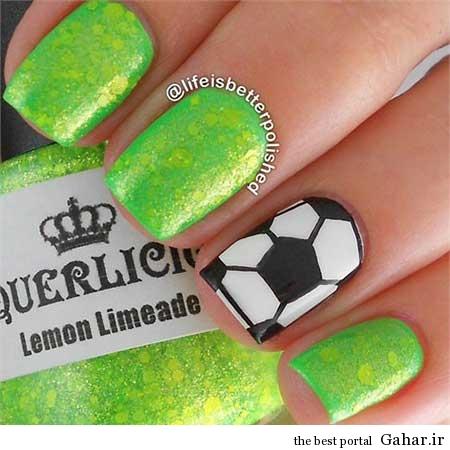 ar4 3147 مانیکوریست به سبک جام جهانی برزیل