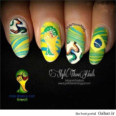 ar4 3148 مانیکوریست به سبک جام جهانی برزیل