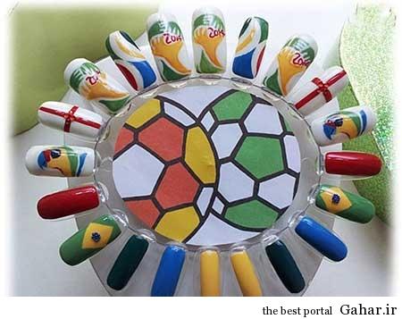 ar4 3151 مانیکوریست به سبک جام جهانی برزیل