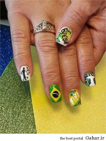 ar4 3152 مانیکوریست به سبک جام جهانی برزیل