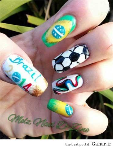 ar4 3154 مانیکوریست به سبک جام جهانی برزیل