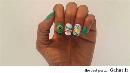 ar4 3157 مانیکوریست به سبک جام جهانی برزیل