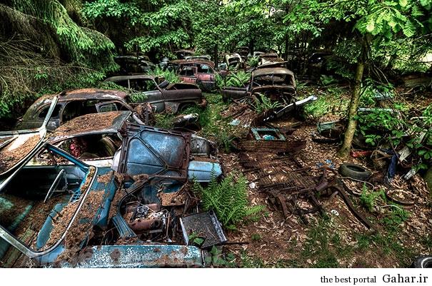 chatillon car graveyard abandoned cars cemetery belgium 11 بزرگترین گورستان خودرو در بلژیک