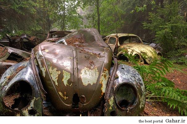 chatillon car graveyard abandoned cars cemetery belgium 2 بزرگترین گورستان خودرو در بلژیک