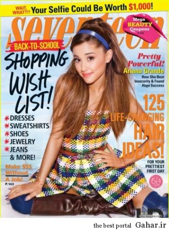 dd4arianagrandecoversse 350x475 فتوشات های جدید اریانا گراند برای مجله Seventeen 2014