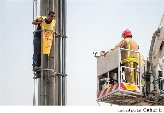 hamidreza15 خودکشی ناموفق در میدان هفت تیر تهران +تصاویر
