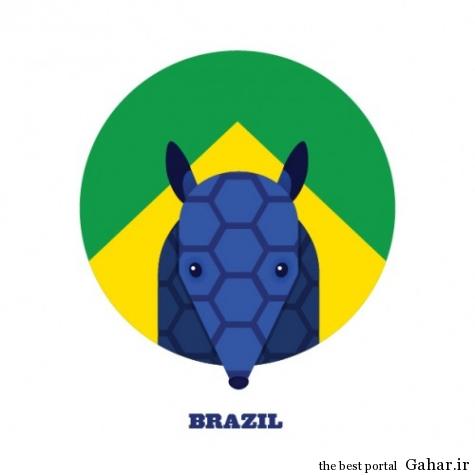 mail 5 475x475 حیوانات نماد کشورها در جام جهانی 2014