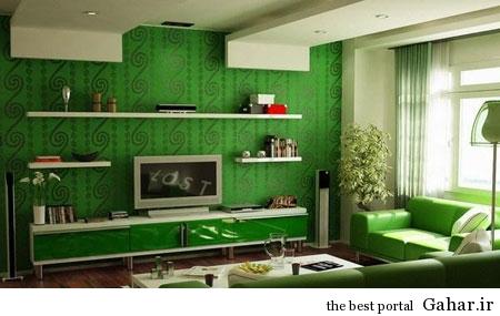 mo14598 دکوراسیون سبز رنگ منزل 2014