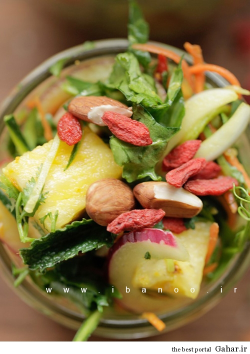 pad salad 1 طرز تهیه سالاد پد تایلندی به همراه نارگیل و سس لیمو