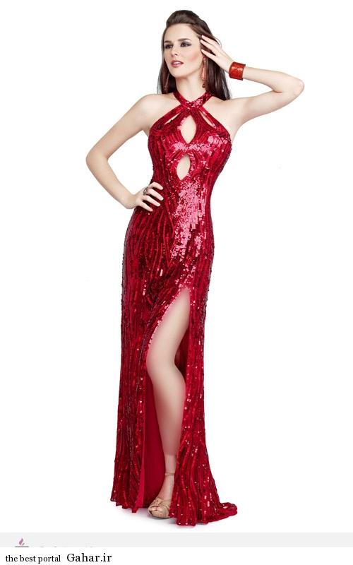10697 مدل لباس مجلسی پولکی Primavera Couture