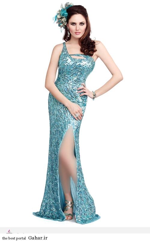 7733 مدل لباس مجلسی پولکی Primavera Couture
