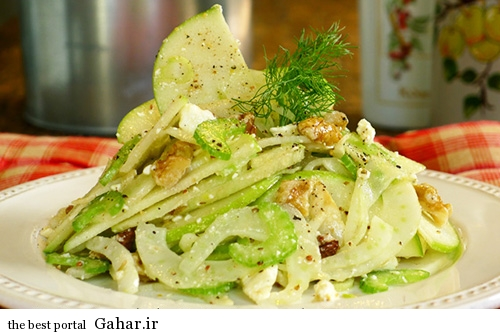 salad golabi 2 طرز تهیه سالاد گلابی و رازیانه