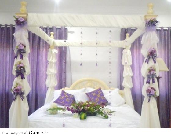 takhte khab aroos1 مدل شیک تزیین تخت خواب عروس و داماد