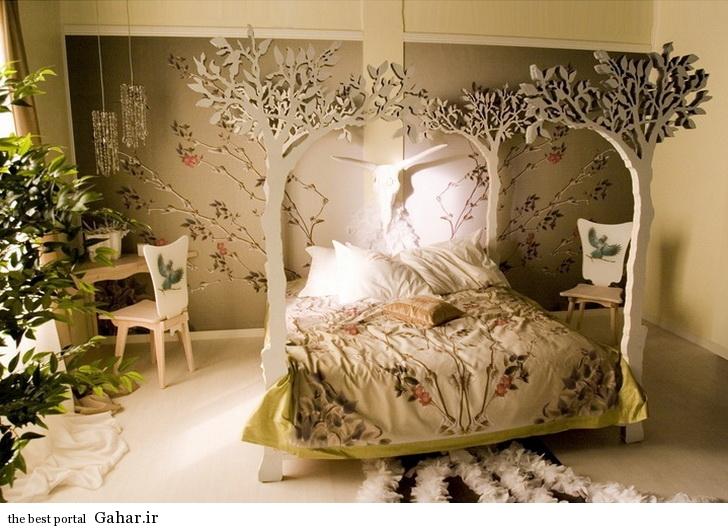 takhte khab aroos4 مدل شیک تزیین تخت خواب عروس و داماد