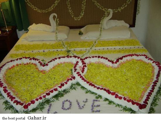 takhte khab aroos5 مدل شیک تزیین تخت خواب عروس و داماد