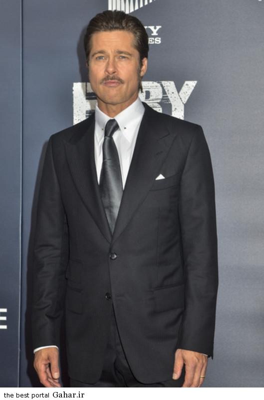 Brad Pitt Fury Premieres Washington DC AL6 Tq7fpe عکس های برد پیت در فرش قرمز فیلم The Fury