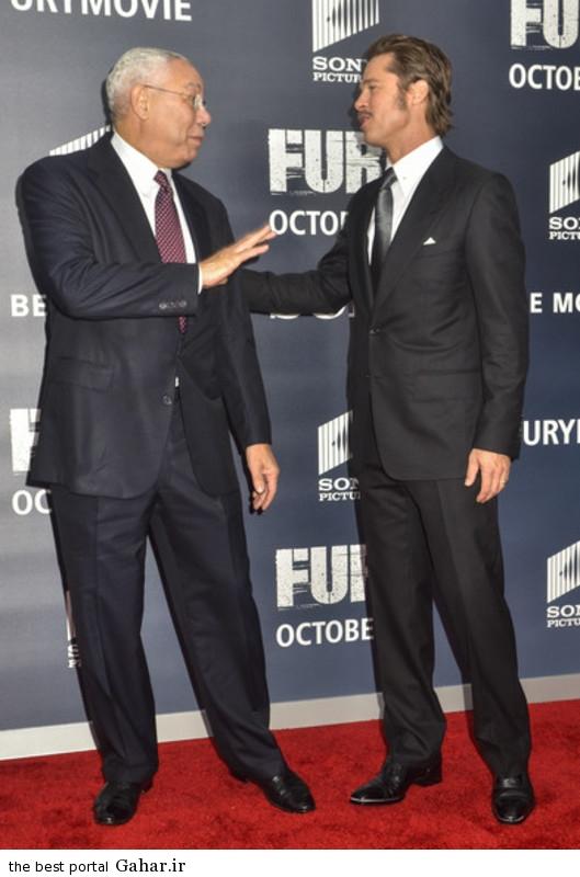 Brad Pitt Fury Premieres Washington DC HQtgj Rfe7 عکس های برد پیت در فرش قرمز فیلم The Fury