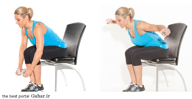 Reverse flye workplace workout credit dave laus تمرینات ورزشی پیشگیری از قوز پشت
