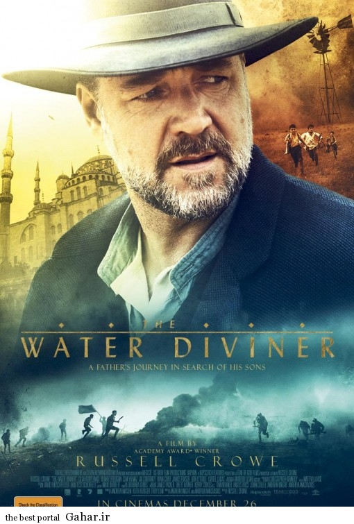 The Water Diviner poster دانلود تریلر فیلم جدید راسل کرو  The Water Diviner