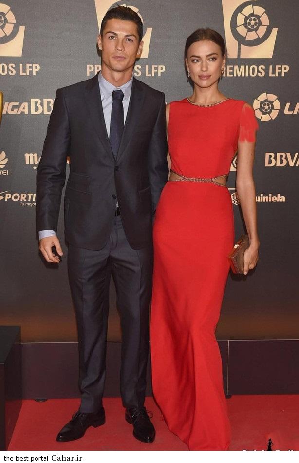 cristiano ronaldo irina shayk 3 عکس های ایرینا شایک و کریس رونالدو در مراسم بهترین بازیکن لالیگا