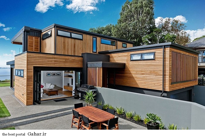 mail 42 خانه ای با نما و دکوراسیون داخلی چوبی در نیوزیلند