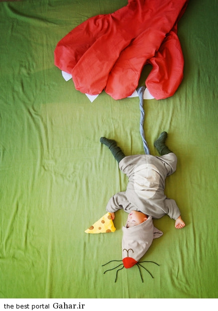 686925 مادری که با خلاقیت فوق العاده نوزادش را جهانی کرد / عکس