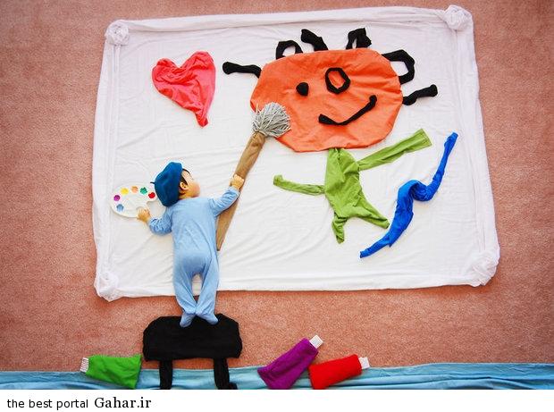 686929 مادری که با خلاقیت فوق العاده نوزادش را جهانی کرد / عکس