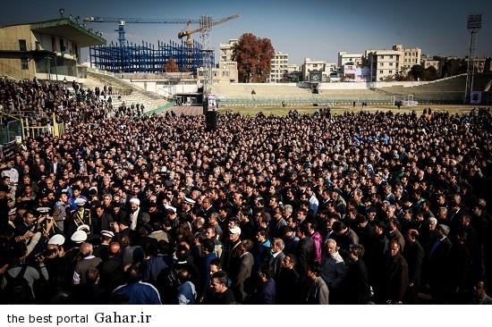706283 وداع با سرطلایی، مراسم تشییع غلامحسین مظلومی / عکس