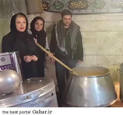 9308 9t949 عکس نیوشا ضیغمی و همسرش سر دیگ نذری