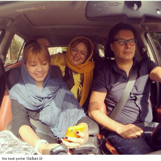 Bahareh Rahnama 220 عکس جدید بهاره رهنما بهمراه همسر و دخترش در ماشین