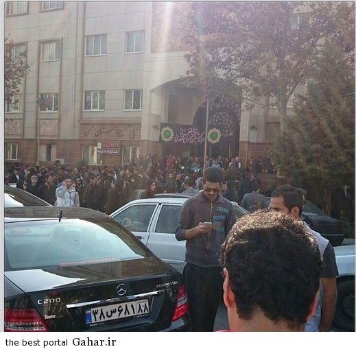 تجمعع هواداران مرتضی پاشایی مقابل بیمارستان بهمن+عکس