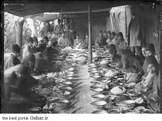 1865372532 عکس جالب از ضیافت ناهار مقامات دولتی در عصر قاجار