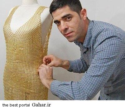 لباس های زنانه از جنس طلا