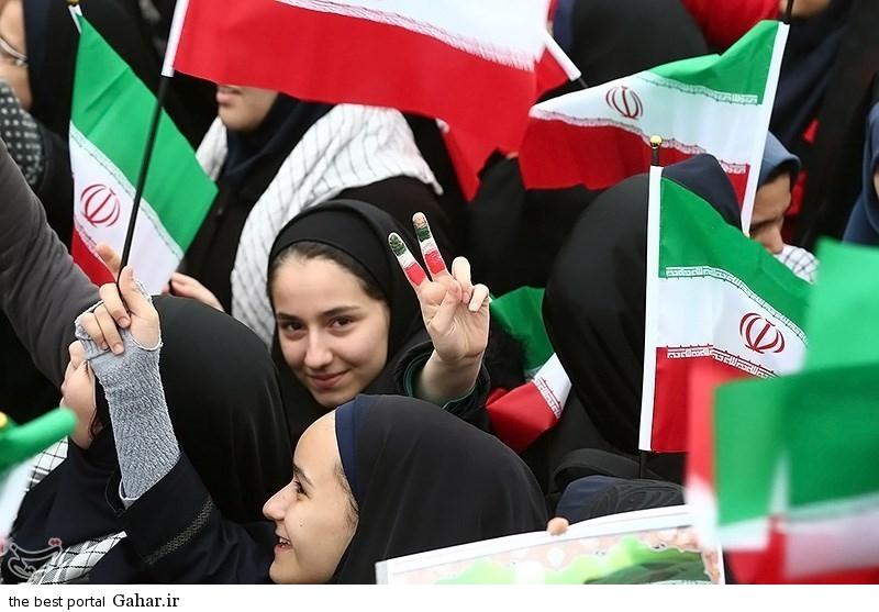 139311221002571984725984 عکس دختران ایرانی در راهپیمایی 22 بهمن 93 میدان آزادی