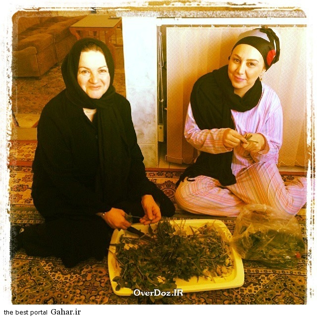 Behnoush Bakhtiari بهنوش بختیاری در کنار مادرش / عکس