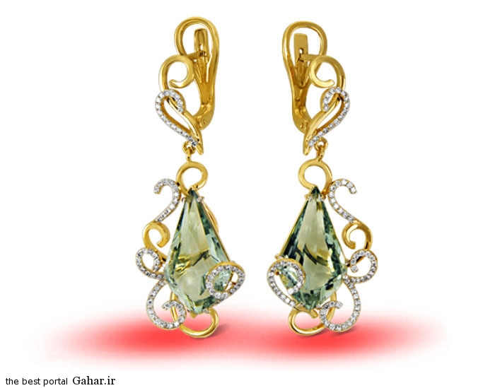gold earrings girls 9 مدلهایی زیبا از گوشواره طلا دخترانه 2015
