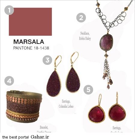 رنگ سال 94 2 عکس هایی زیبا از مدل جواهرات به رنگ سال 2015
