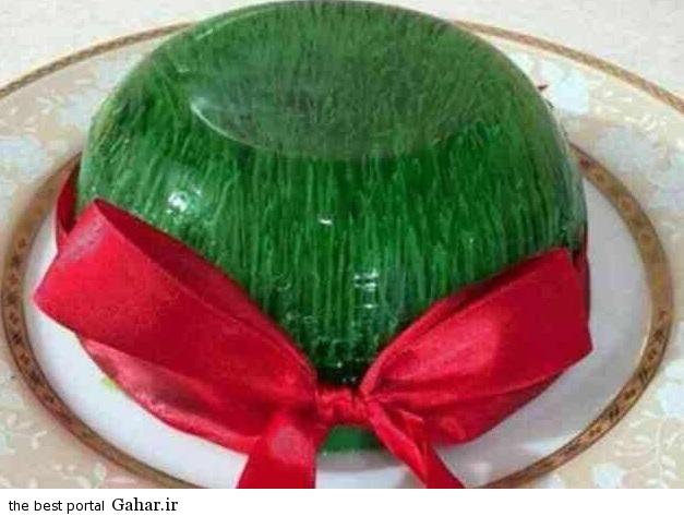 336627 850 طرز تهیه ژله به شکل سبزه عید